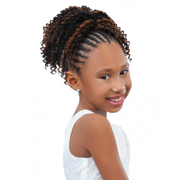 Sensual Pretty Girl Kids Drawstring Ponytail - Pearl