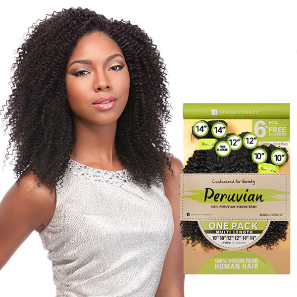 Sensationnel Virgin Remi Bundle Hair Bare & Natural - Bohemian (1PK)