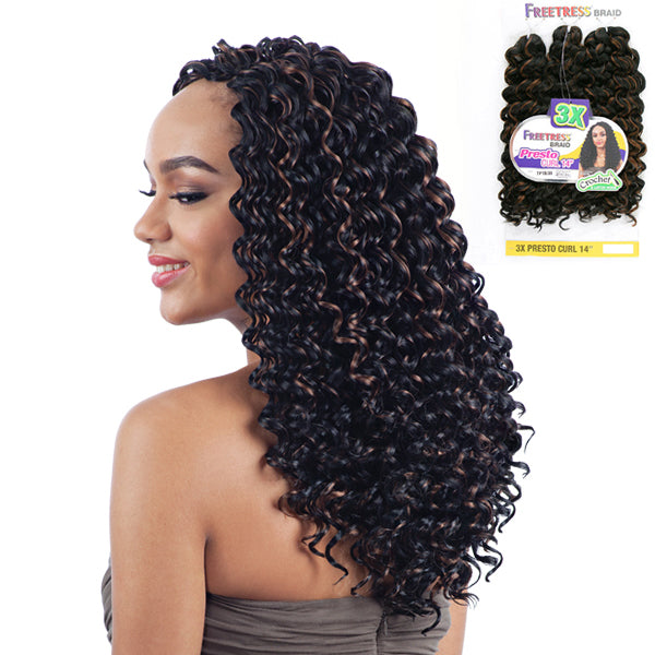 Freetress Equal Synthetic Braid - 3X PRESTO CURL 14""