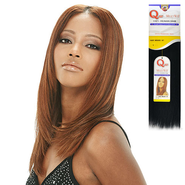 MilkyWay QUE Human Hair Yaky Weave