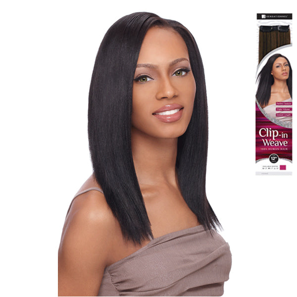 Sensationnel 100% Human Hair Clip In Weave 1piece