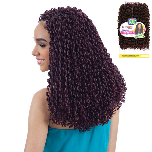 Freetress Equal Synthetic Braid - 3X STRAW SET CURL 14""