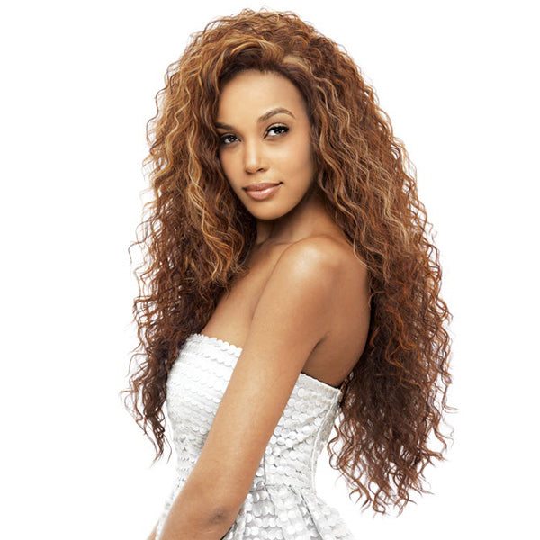 Vanessa Honey-4 Brazilian Human Blend Hand-Tied Swiss silk Lace Wig - T4HB Mogany