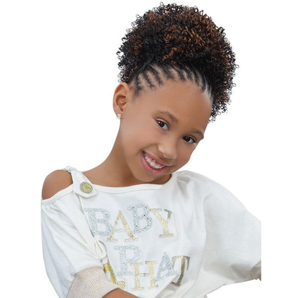 Sensual Pretty Girl Kids Drawstring Ponytail - Topaz