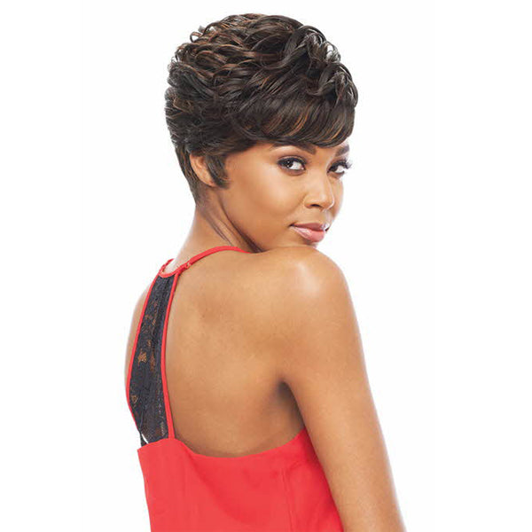 Vanessa Honey-C Reverse Side Brazilian Human Hair Blend Swiss Silk Lace Wig - TRCHB UNA