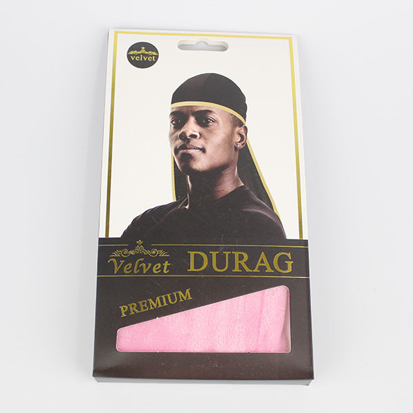 Velvet Silky Durag - Light Pink