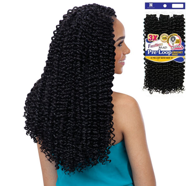 Freetress Equal Synthetic Flexi-lock Braid - 3X PRE-LOOP WATER WAVE 16""