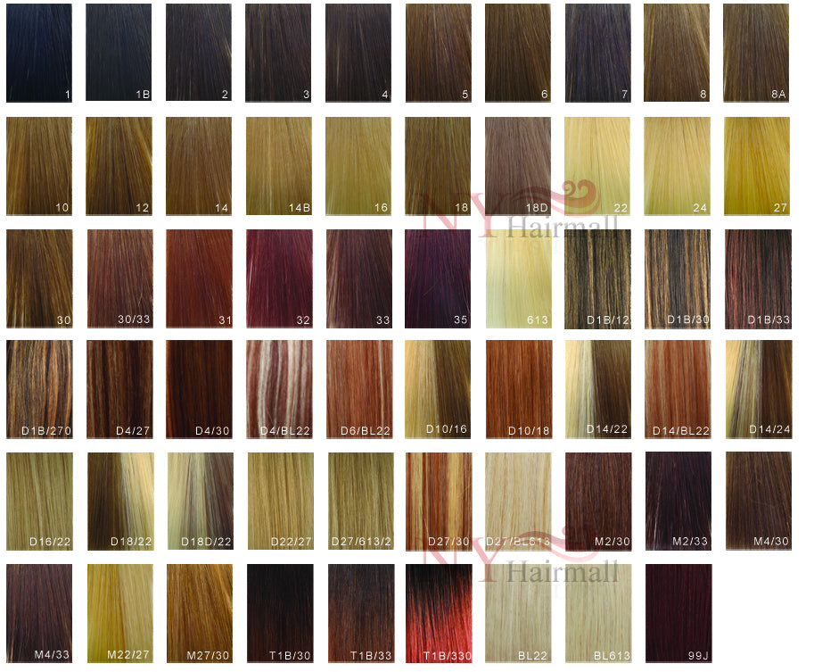 Modu Wigs Color Chart Nyhairmall