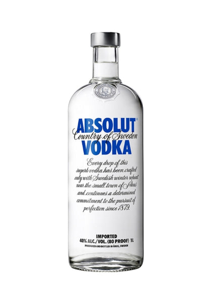 Absolut, Swedish Wheat Vodka, 1 Liter