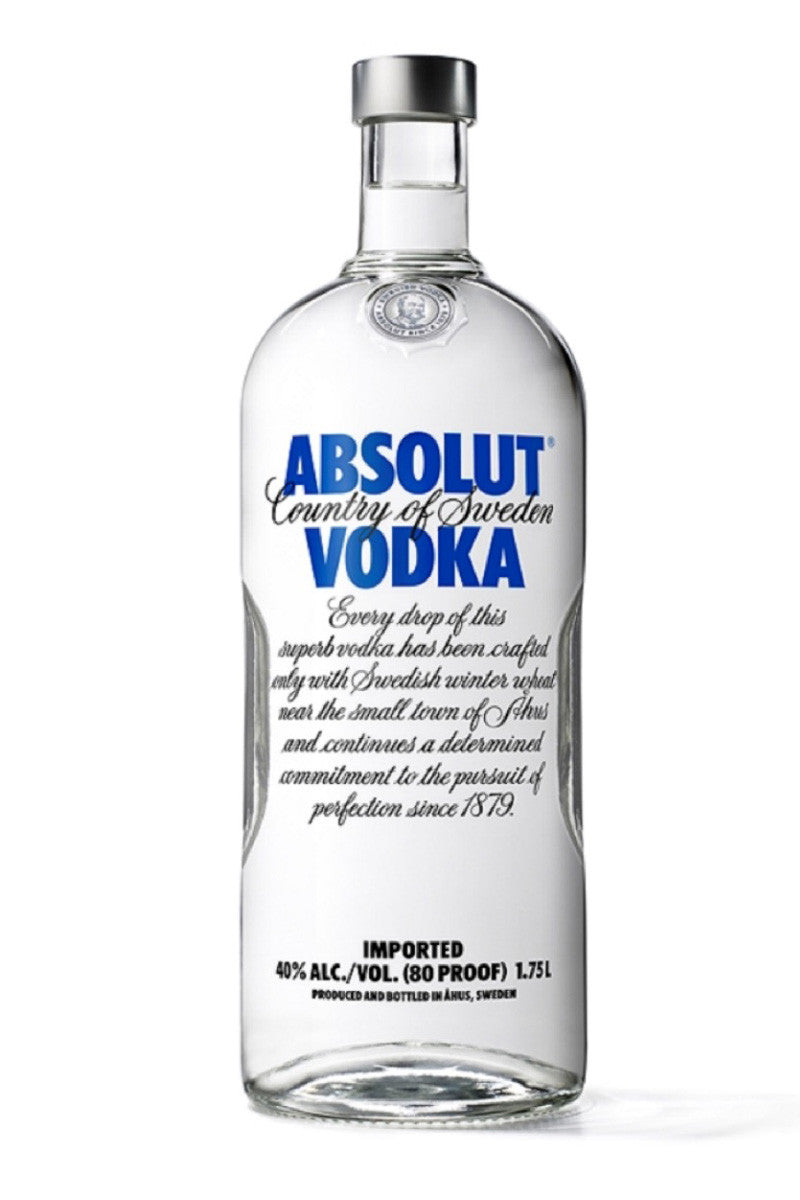 Absolut, Swedish Wheat Vodka, 1.75L - The Corkery Wine & Spirits