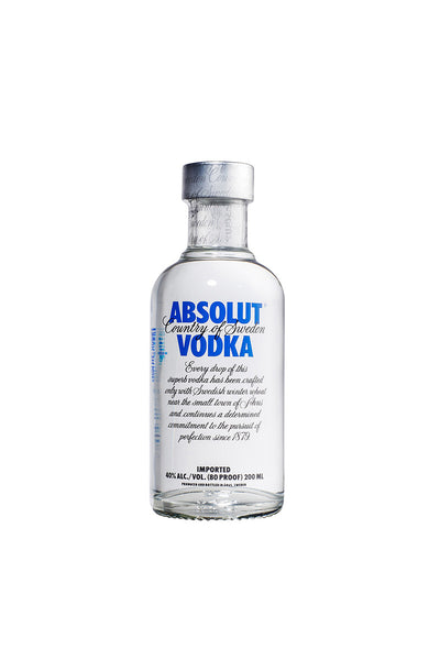 Absolut, Swedish Wheat Vodka, 200mL