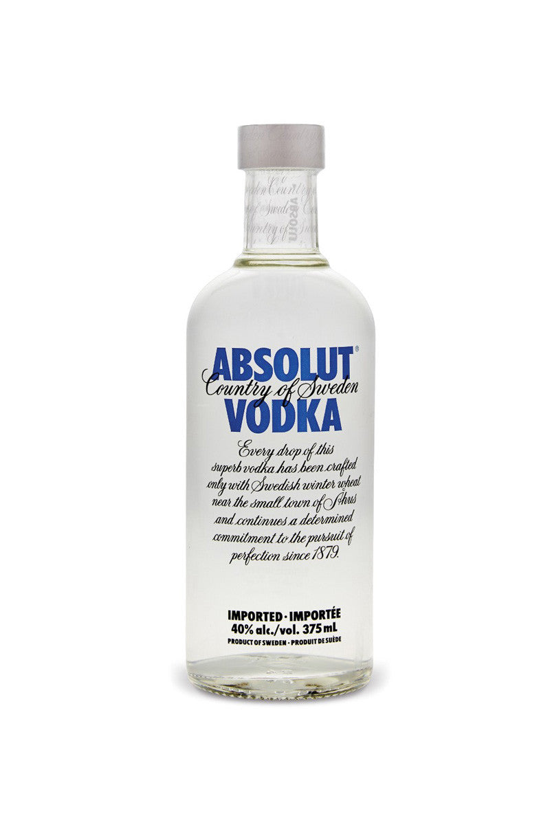 Absolut, Swedish Wheat Vodka, 375mL - The Corkery Wine & Spirits