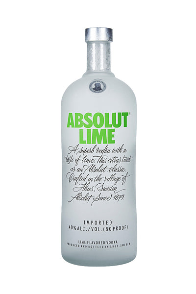 Absolut Lime, Swedish Wheat Vodka, 1 Liter