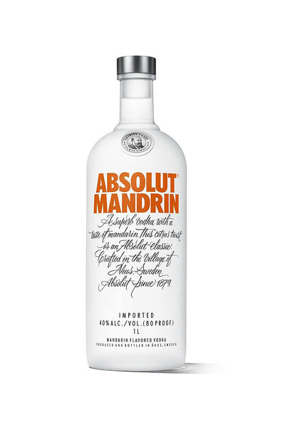 Absolut Mandarin, Swedish Wheat Vodka 1 Liter