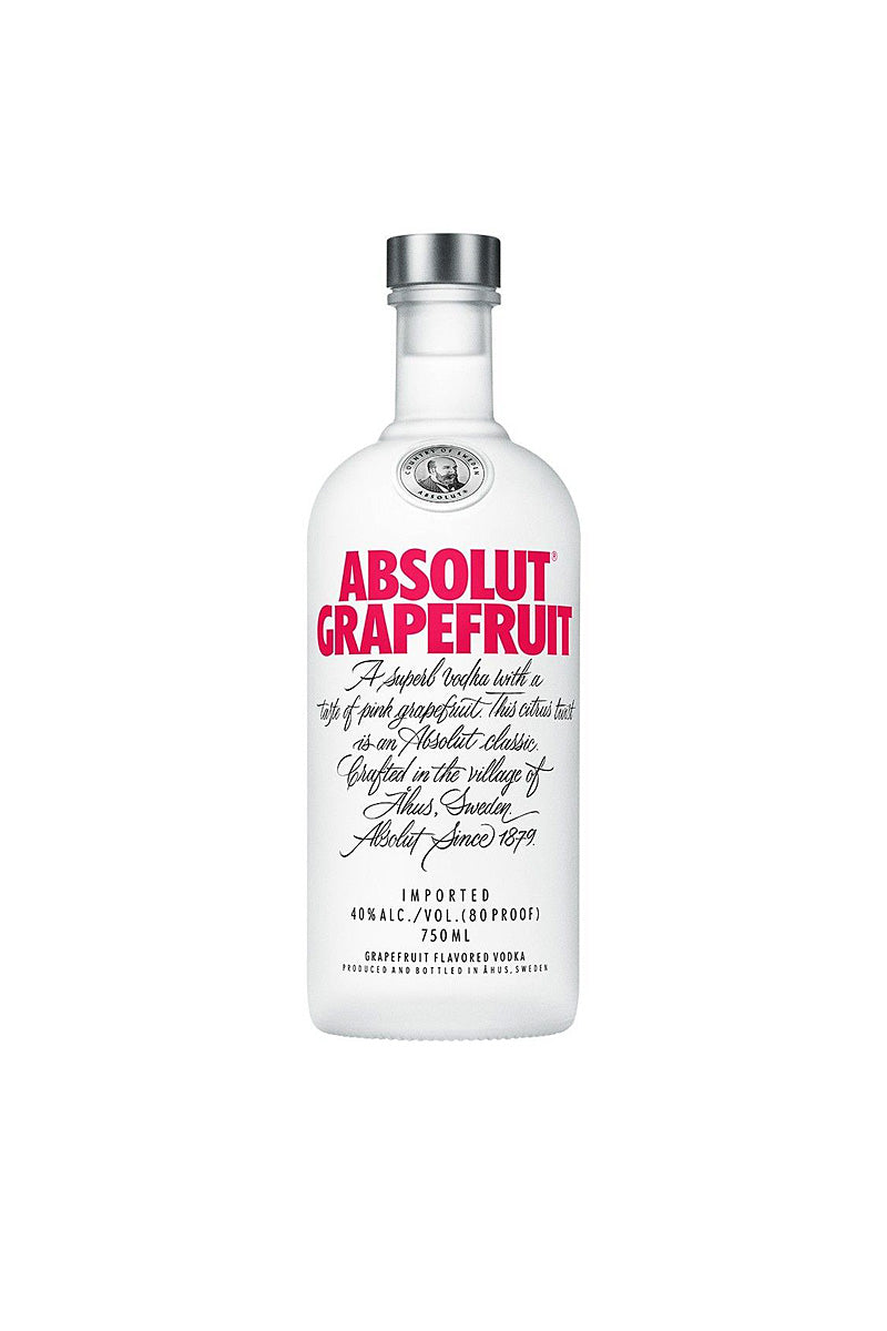Absolut Grapefruit, Swedish Wheat Vodka, 750mL