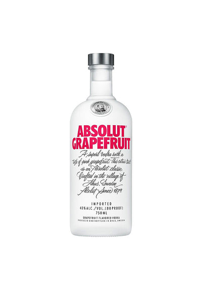 Absolut Grapefruit, Swedish Wheat Vodka 1 Liter