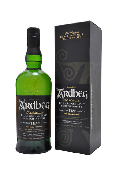 Ardbeg, Islay Single Malt 10 Year Scotch Whisky 750 mL