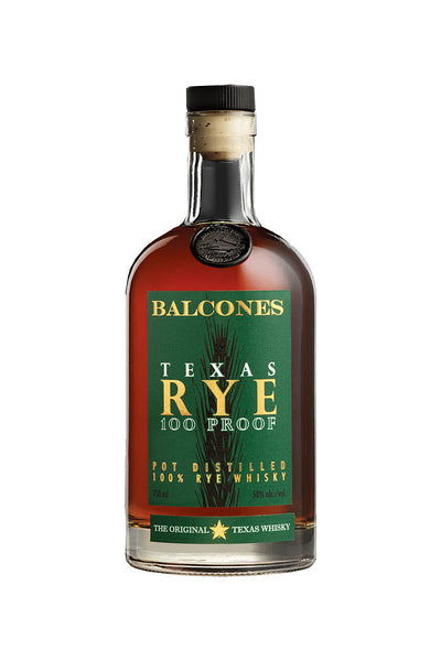 Balcones Texas Rye 100 Proof 750mL