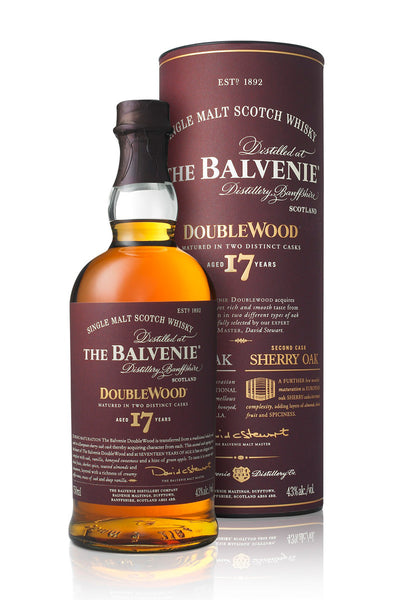 Balvenie DoubleWood 17 Yr. Single Malt Scotch Speyside, Scotland - The Corkery Wine & Spirits