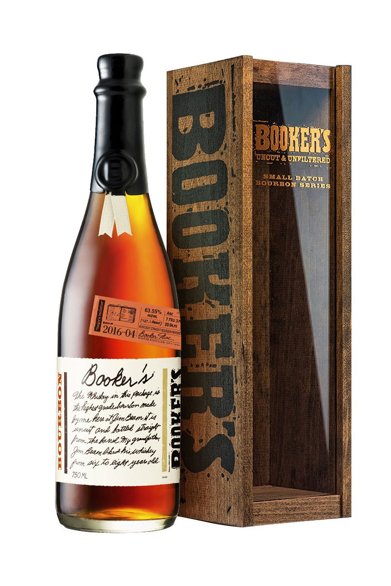 "Booker's ""Sip Awhile"" Bourbon, Uncut & Unfiltered 128.1 Proof, Kentucky 750mL - The Corkery Wine & Spirits"