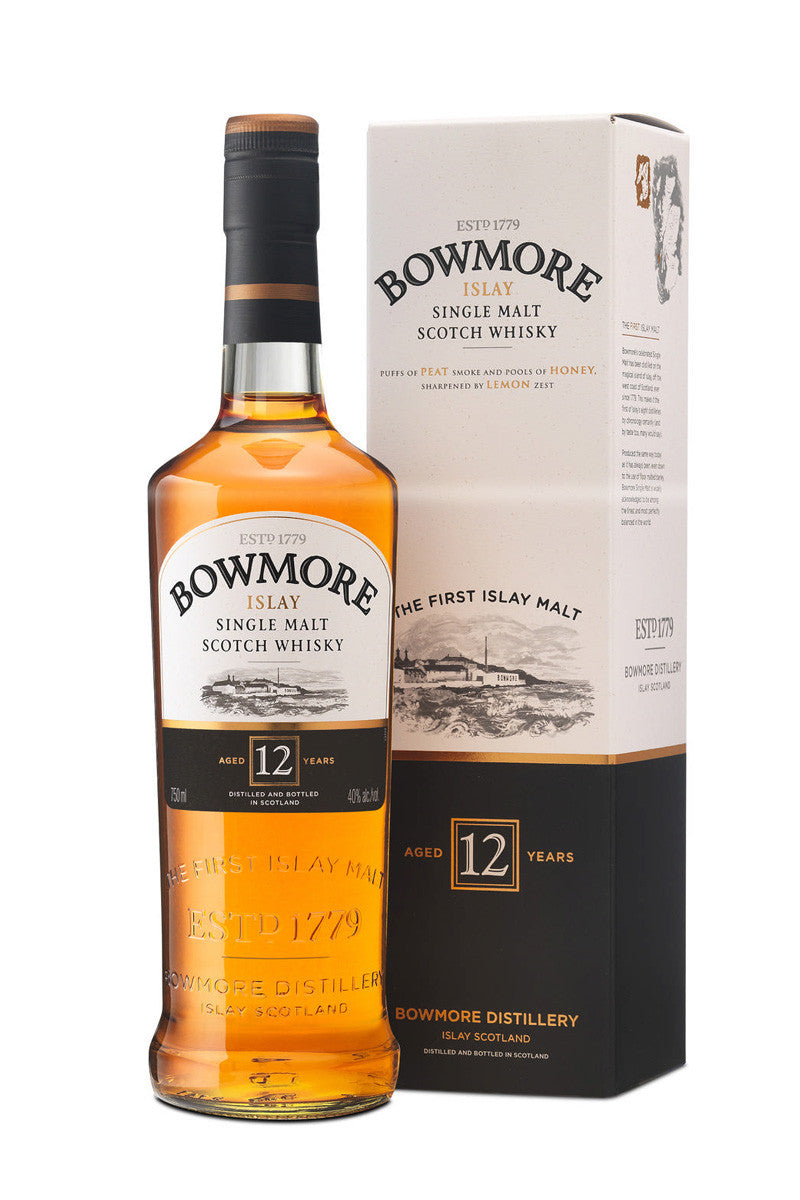 Bowmore 12 Year Single Malt Scotch Whiskey Islay