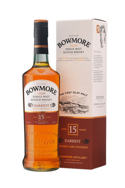 Bowmore 15 Year Darkest Scotch Whiskey Islay - The Corkery Wine & Spirits