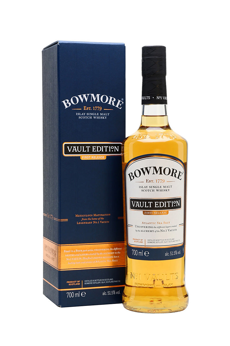 Bowmore Scotch Single Malt Vault Edition Atlantic Sea Salt, First Relase 51.5% ALC./VOL. 750 mL - The Corkery Wine & Spirits