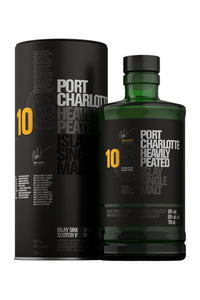 Bruichladdich Port Charlotte 10 Year Heavily Peated Islay Single Malt Scotch 750mL