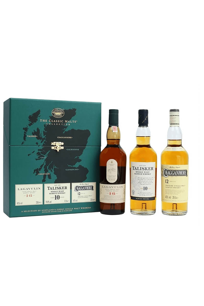 The Classic Malts Collection, 3x200mL Single Malts Scotch