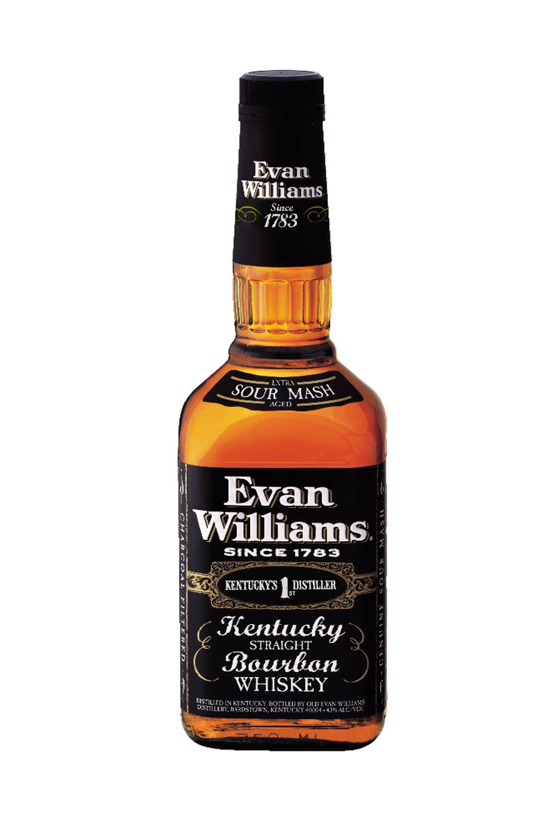Evan Williams Black Bourbon, Kentucky 750mL - The Corkery Wine & Spirits