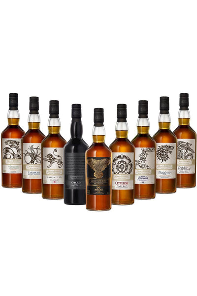 Game of Thrones Full Set of 9  Single Malts, including Mortlach 15 Year Six Kingdoms