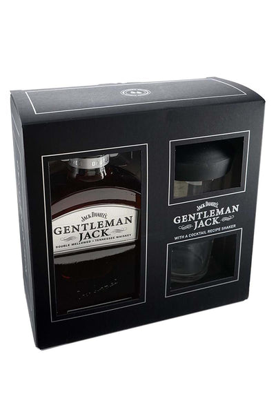 Gentleman Jack, Tennessee Whiskey 750mL (gift set with a glass shaker) 750mL