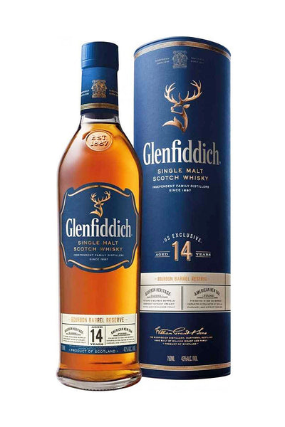 Glenfiddich 14 Yr. Bourbon Barrel Reserve, Single Malt Scotch, Speyside, Scotland 750mL