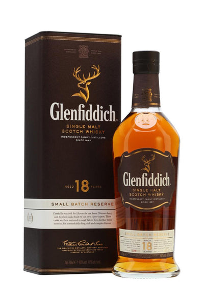 Glenfiddich 18 Yr. Small Batch Reserve Scotch Single Malt, Speyside, Scotland 750 mL