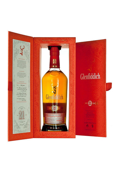Glenfiddich 21 Yr. Reserva Rum Cask Finish Scotch Single Malt, Speyside, Scotland 750 mL - The Corkery Wine & Spirits