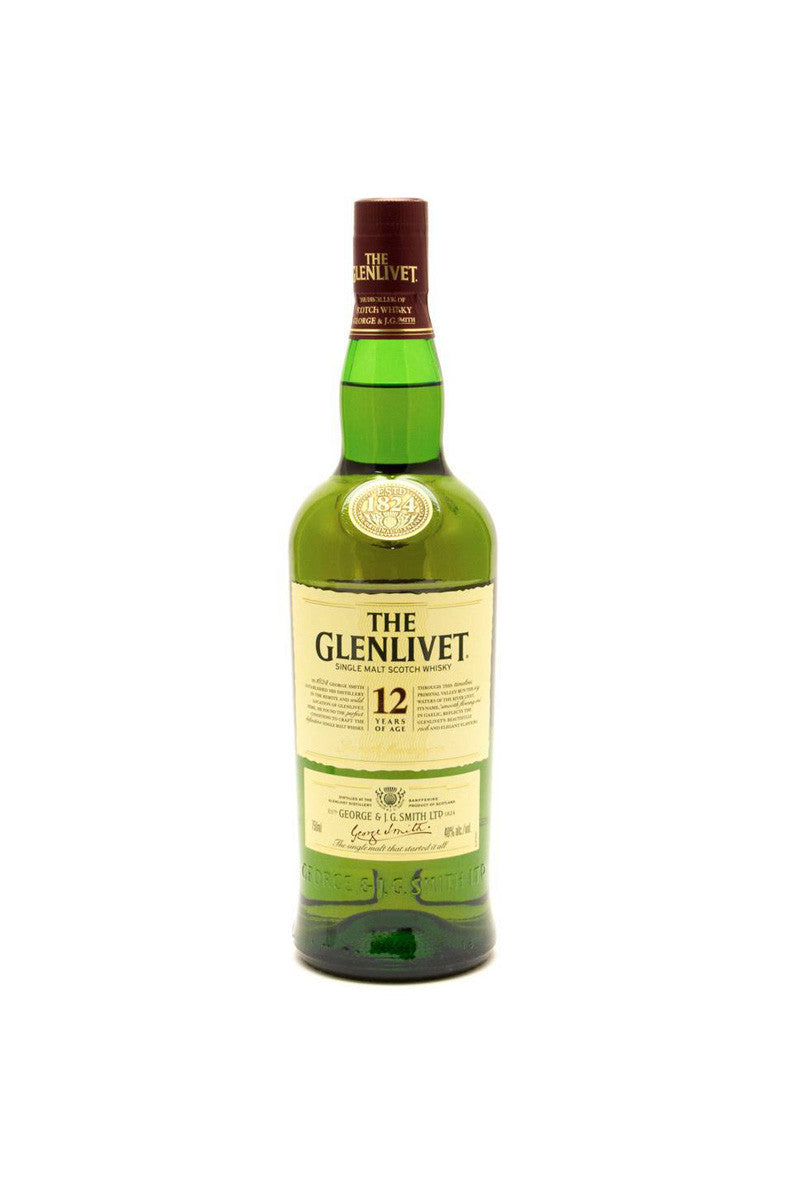 The Glenlivet 12 Year Old Single Malt Scotch Speyside 375 mL