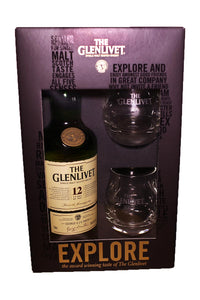 The Glenlivet 12 Year Old Single Malt Scotch Speyside (gift sets with two glasses) 750 mL