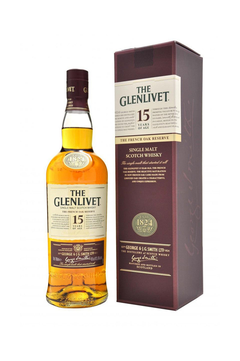 The Glenlivet 15 Year Old French Oak Reserve Scotch Speyside - The Corkery Wine & Spirits