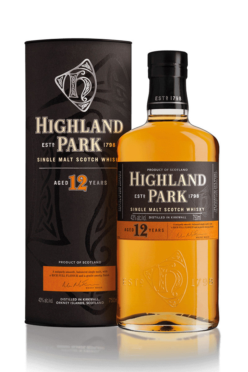 Highland Park 12 Year Old Orkney Single Malt Scotch 750mL - The Corkery Wine & Spirits