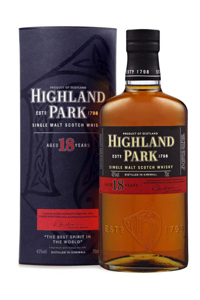 Highland Park 18 Year Old Orkney Single Malt Scotch