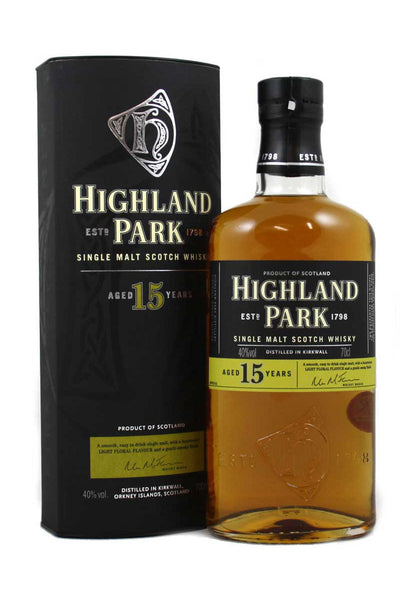 Highland Park 15 Year Old Orkney Single Malt Scotch
