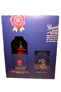 Jim Beam Double Oak Twice Barreled Bourbon, Kentucky (gift set with whiskey stones) 750mL