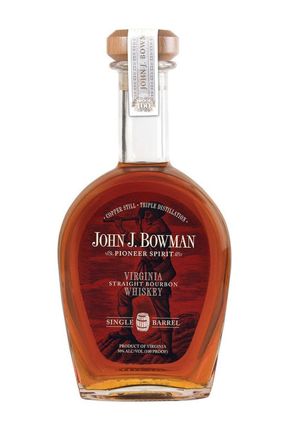 John J. Bowman Single Barrel Bourbon 100 Proof, Virginia 750mL - The Corkery Wine & Spirits