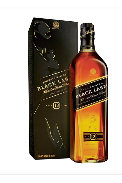 Johnnie Walker Black Blended Scotch Whiskey 750mL