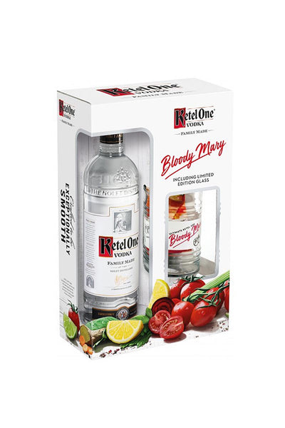 Ketel One Dutch Wheat Vodka, Netherlands (gift set with Bloody Mary glass) 750mL