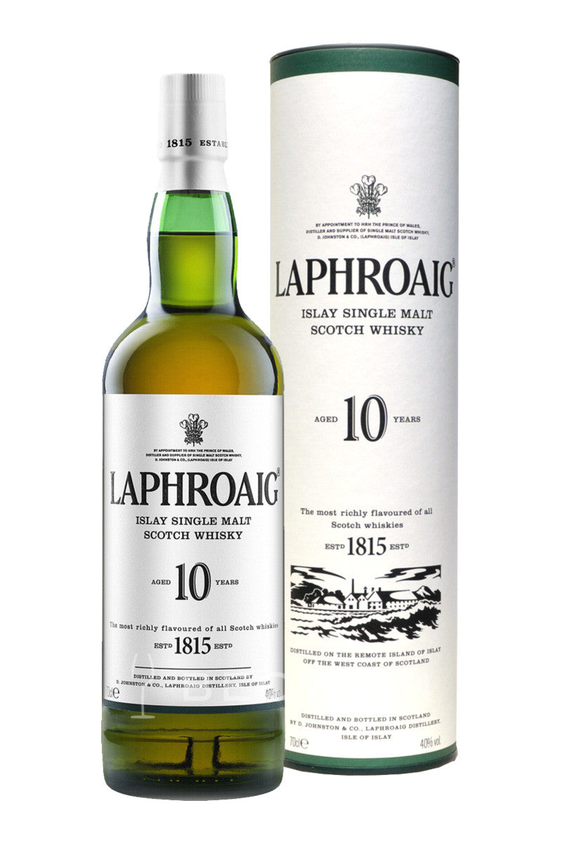 Laphroaig 10 Year Old Single Malt Scotch 750mL - The Corkery Wine & Spirits