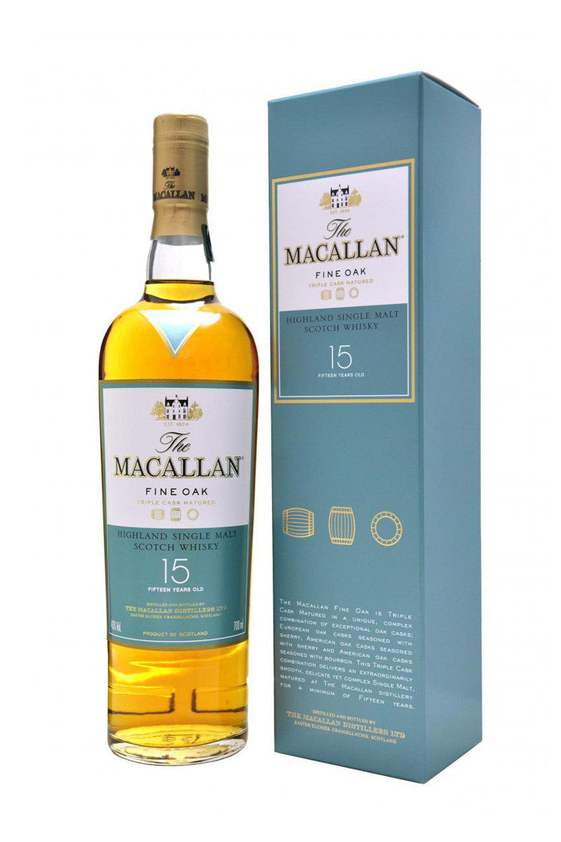 The Macallan Fine Oak Single Malt Scotch 15 Year, 750 mL - The Corkery Wine & Spirits