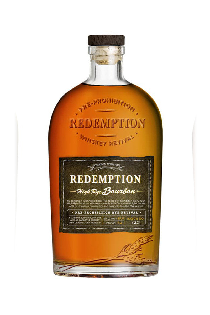 Redemption High Rye Bourbon, Kentucky 750mL - The Corkery Wine & Spirits