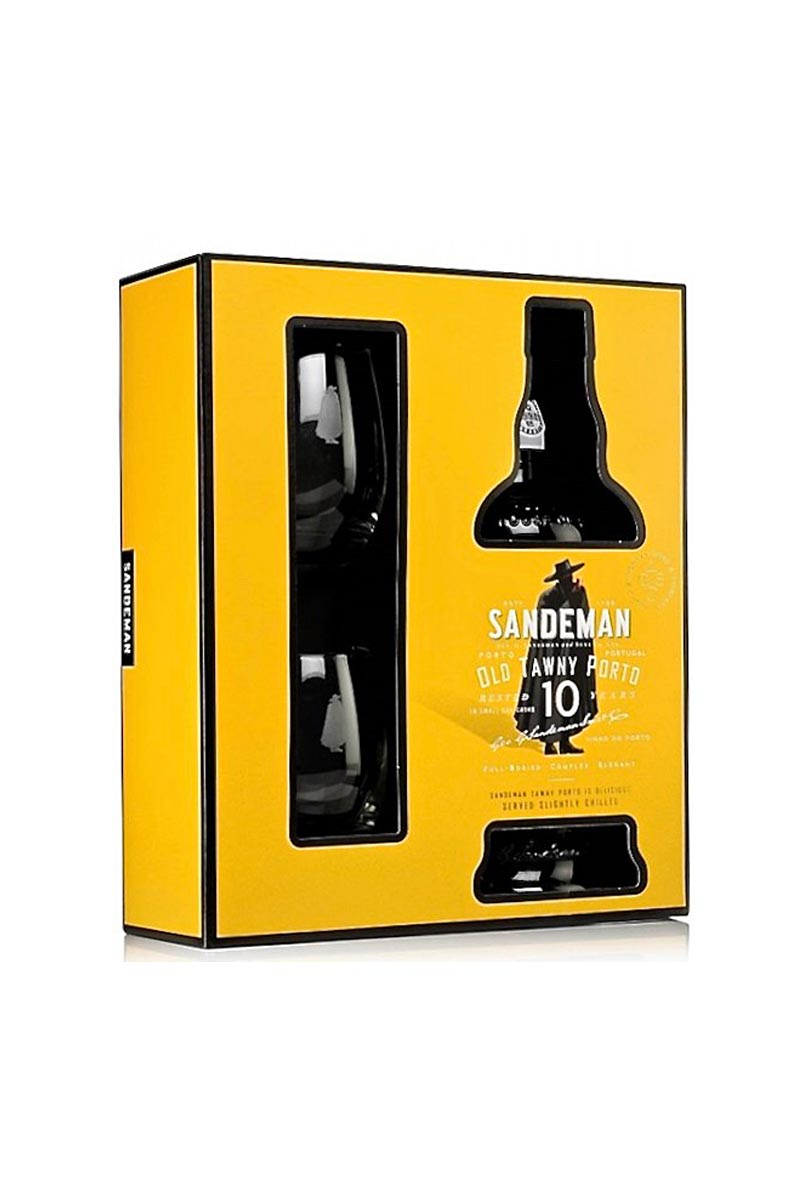 Sandeman 10 Yr. Old Towny Port, Porto, Portugal (gift set with two glasses) 750mL