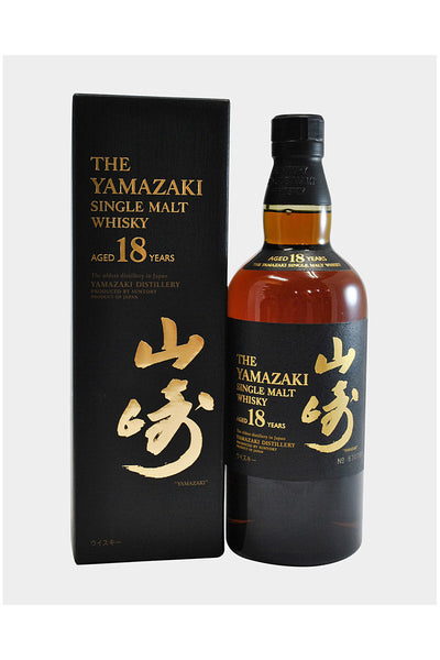 Suntory Yamazaki 18 Year Old Single Malt Japanese Whiskey 750mL